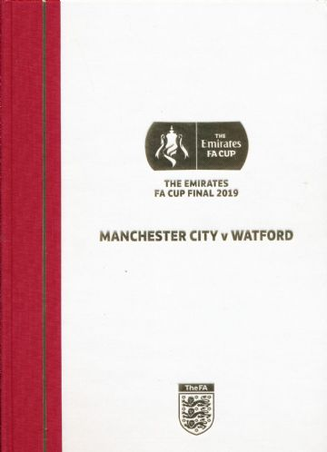 2019  FA Cup Final Watford  v Manchester City - LIMITED EDITION Hardback  version